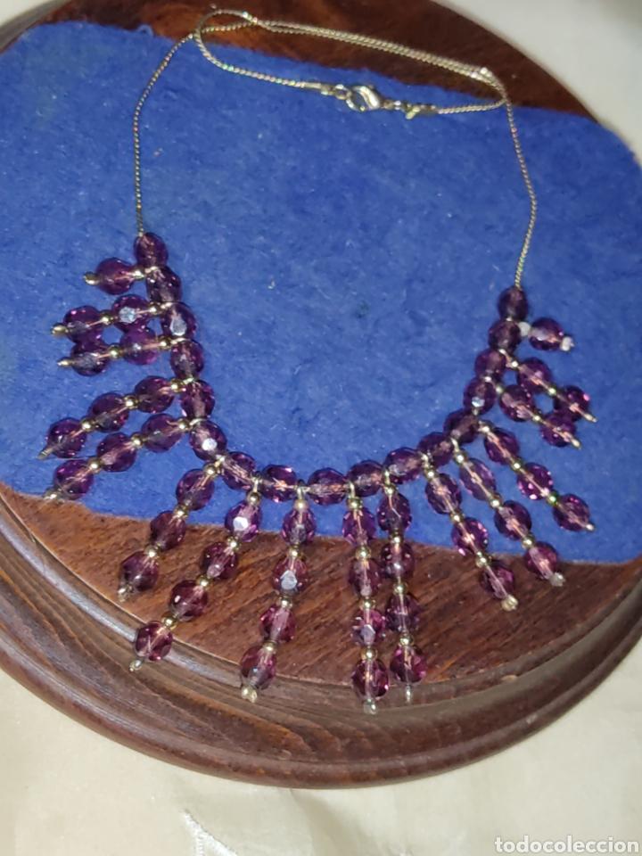 Joyeria: Gargantilla o collar de cristal o granates facetados. - Foto 6 - 289769858