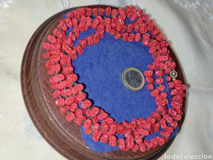 Joyeria: Collar largo de opalina roja imitando a coral,vintage. - Foto 2 - 289770288