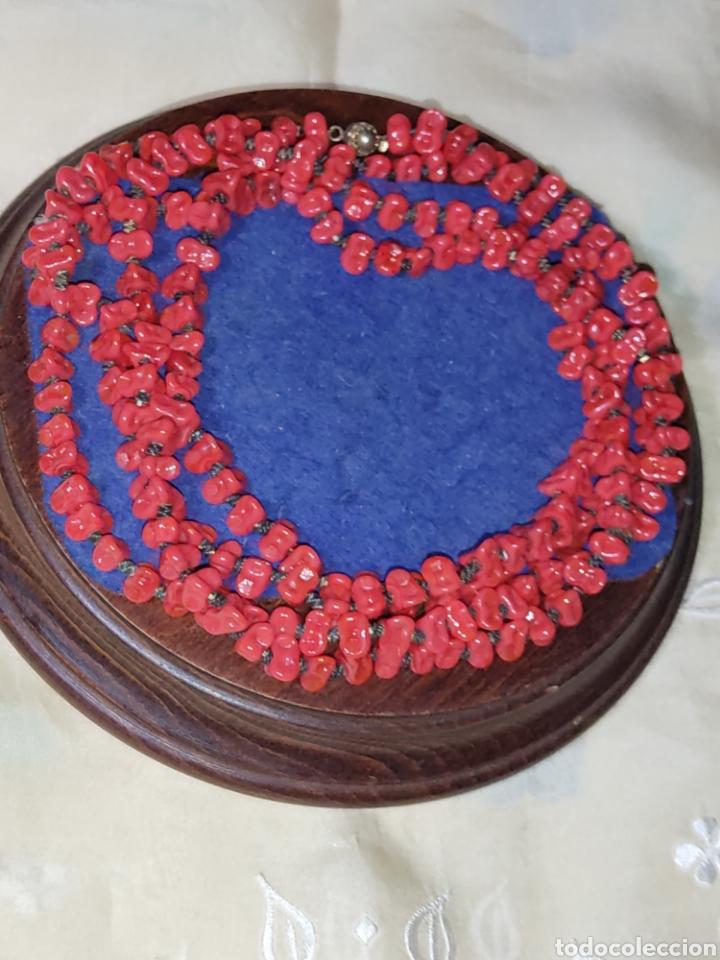Joyeria: Collar largo de opalina roja imitando a coral,vintage. - Foto 4 - 289770288
