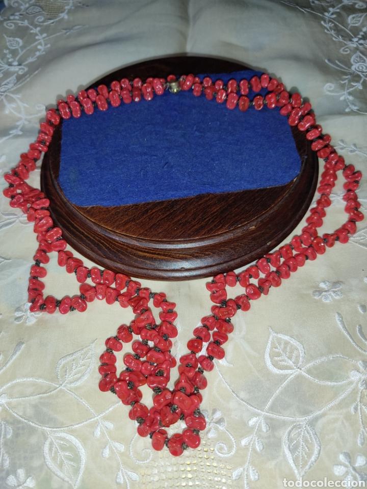 Joyeria: Collar largo de opalina roja imitando a coral,vintage. - Foto 7 - 289770288