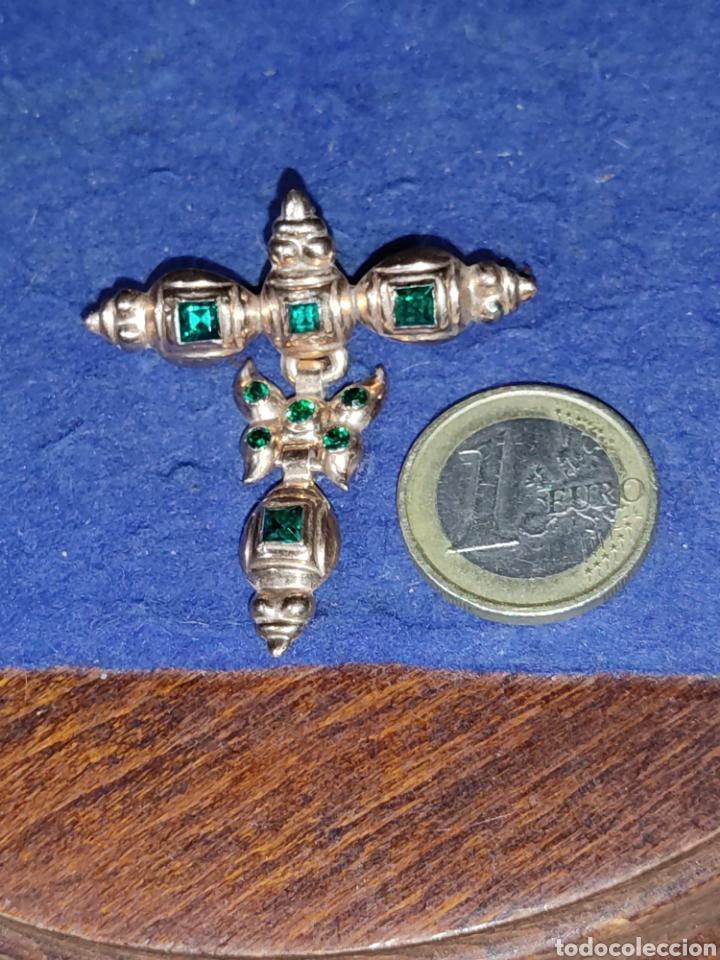 Joyeria: Broche,colgante para traje regional o varios,de oro 18KL,con esmeraldas o pedrería verde. - Foto 2 - 289770733