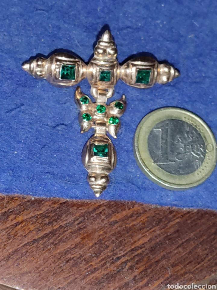 Joyeria: Broche,colgante para traje regional o varios,de oro 18KL,con esmeraldas o pedrería verde. - Foto 3 - 289770733