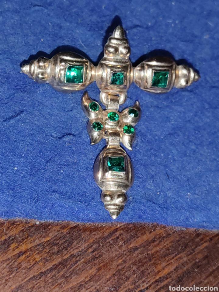 Joyeria: Broche,colgante para traje regional o varios,de oro 18KL,con esmeraldas o pedrería verde. - Foto 4 - 289770733