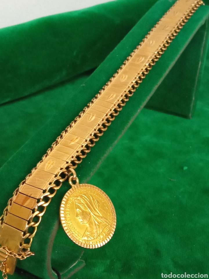 Joyeria: Pulsera con colgante oro 18K.- 31 grs - Foto 2 - 287672683