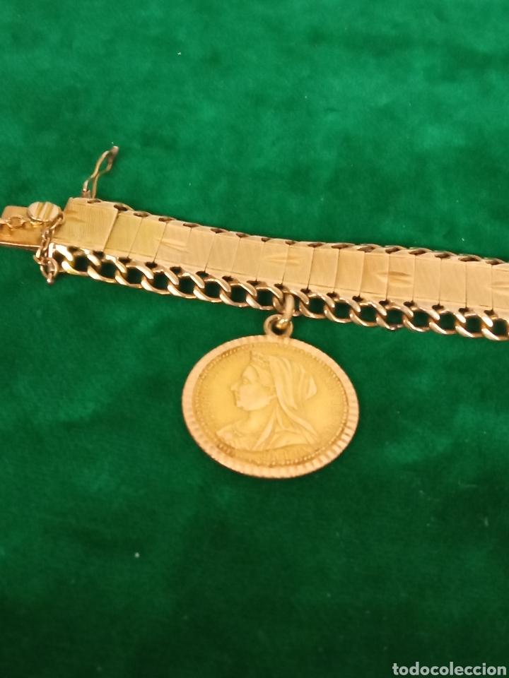 Joyeria: Pulsera con colgante oro 18K.- 31 grs - Foto 4 - 287672683