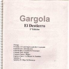 Juegos Antiguos: JUEGO DE ROL 'GÁRGOLA EL DESTIERRO'. MANUAL DE INSTRUCCIONES. 102 PÁGINAS.. Lote 22821625