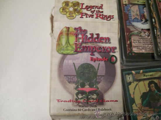 Juegos Antiguos: JUEGO DE CARTAS LEGEND OF THE FIVE RINGS-LA LEYENDA DE LOS CINCO ANILLOS 60 CARTAS - Foto 2 - 27081631