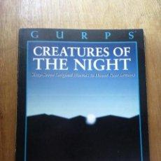 Juegos Antiguos: GURPS - CREATURES OF THE NIGHT - STEVE JACKSON GAMES , ROL. Lote 26456370