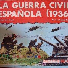 Juegos Antiguos: JUEGO LA GUERRA CIVIL ESPAÑOLA (1936) JUEGO DE NESA -NIKE & COOPER-. Lote 34957293