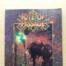 Juegos Antiguos: RITE OF PASSAGE - THE INTRODUCTORY STORY / SOURCEBOOK FOR WEREWOLF: THE APOCALYPSE - ROL. Lote 26522886