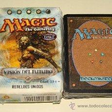 Juegos Antiguos: BARAJA DE ROL. MAGIC THE GATHERIG. VISIÓN DEL FUTURO. NIVEL EXPERTO. 69 NAIPES. REBELDES UNIDOS . Lote 23268968