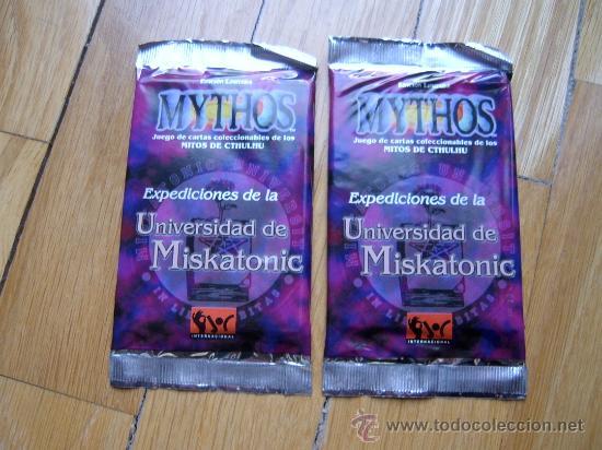 JUEGO DE CARTAS COLECCIONABLES MYTHOS - 2 SOBRES EXPANSIÓN MISKATONIC - JOC MITOS DE CTHULHU (Juguetes - Rol y Estrategia - Otros)