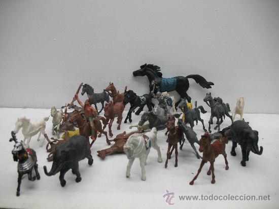 Juegos Antiguos: INTERESANTE LOTE DE CABALLOS DEL OESTE - Foto 2 - 27814451