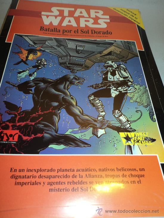 LIBRO STAR WARS, BATALLA POR EL SOL DORADO. TM 1992 LUCASFILM. (Juguetes - Rol y Estrategia - Juegos de Rol)