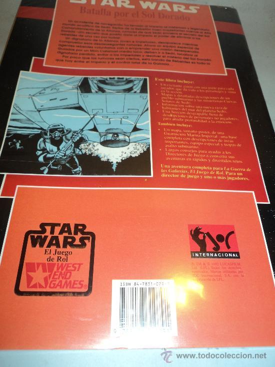 Juegos Antiguos: Libro Star Wars, Batalla por el Sol Dorado. TM 1992 LUCASFILM. - Foto 2 - 28392537