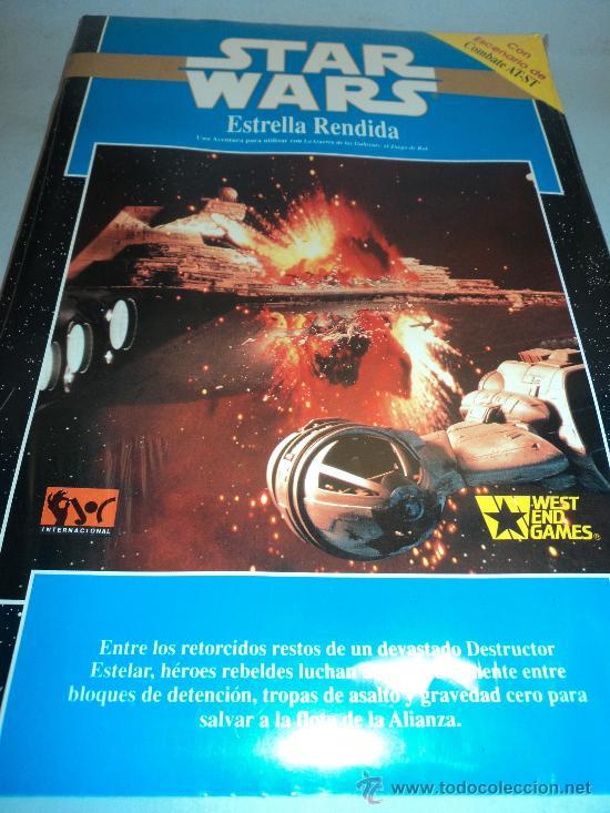 STAR WARS, ESTRELLA RENDIDA TM 1992 LUCASFILM. WEST END GAMES. (Juguetes - Rol y Estrategia - Juegos de Rol)
