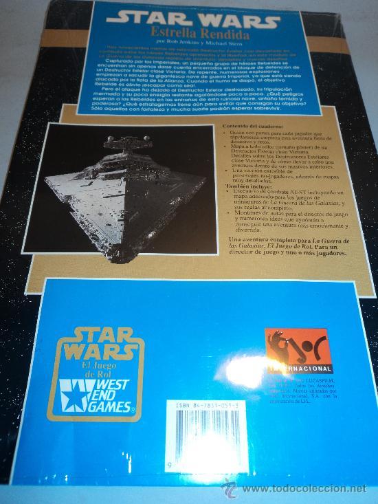 Juegos Antiguos: Star Wars, Estrella Rendida TM 1992 Lucasfilm. West End Games. - Foto 2 - 28392586