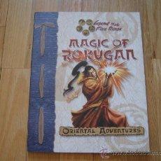 Juegos Antiguos: LA LEYENDA DE LOS CINCO ANILLOS -INGLÉS- MAGIC OF ROKUGAN - JUEGO ROL D20. Lote 29505275