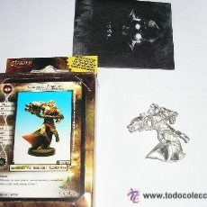 Juegos Antiguos: FIGURA 1999 CAMPEON ANGELICAL CON CAÑON METAL SIN PINTAR - STARTER INCLUYE REGLAMENTO - CON CARTA. Lote 29976352