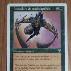 Juegos Antiguos: CARTA SUELTA MAGIC (ARMADURA DE MADERAPÁLIDA) LA DE LA FOTO. Lote 31496421