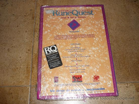 Juegos Antiguos: LIBRO DE ROL AVANZADO DE RUNE QUEST NUEVO DE LIBRERIA - Foto 3 - 39912070