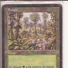 Juegos Antiguos: DECKMASTER MAGIC THE GATHERING, BOSQUE, TIERRA. Lote 33254254