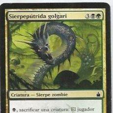 Juegos Antiguos: +-+ CR05 - MAGIC THE GATHERING - SIERPEPUTRIDA GOLGARI - CRIATURA - SIERPE ZOMBIE. Lote 33636992