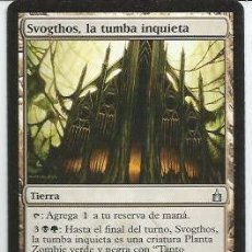 Juegos Antiguos: *** CR19 - MAGIC THE GATHERING - SVOGTHOS, LA TUMBA INQUIETA - TIERRA. Lote 33637943