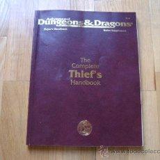 Juegos Antiguos: ADVANCED DUNGEONS & DRAGONS - THE COMPLETE THIEF´S HANDBOOK - JUEGO DE ROL - TSR 2111. Lote 34630913