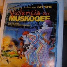 Juegos Antiguos: VIOLENCIA EN MUSKOGEE, CAR WARS, STEVE JACKSON GAMES, JOC INTERNACIONAL, MAPAS Y FICHAS ROL. Lote 36448347