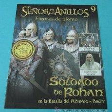 Juegos Antiguos: SOLDADO DE ROHAN EN LA BATALLA DEL ABISMO. FASCÍCULO Nº 9 EL SEÑOR DE LOS ANILLOS - FIGURAS DE PLOMO. Lote 37771102