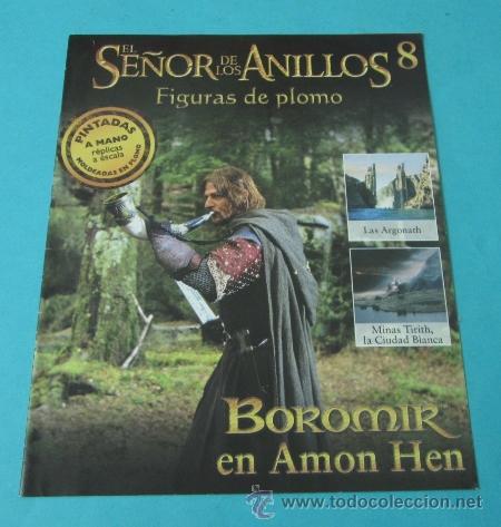 BOROMIR EN AMON HEN. FASCÍCULO Nº 8 EL SEÑOR DE LOS ANILLOS - FIGURAS DE PLOMO (Juguetes - Rol y Estrategia - Otros)