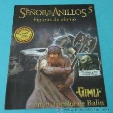 Juegos Antiguos: GIMLI EN LA TUMBA DE BALIN. FASCÍCULO Nº 5 EL SEÑOR DE LOS ANILLOS - FIGURAS DE PLOMO. Lote 37771169