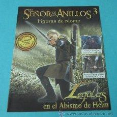 Juegos Antiguos: LEGOLAS EN EL ABISMO DE HELM. FASCÍCULO Nº 3 EL SEÑOR DE LOS ANILLOS - FIGURAS DE PLOMO. Lote 37771210