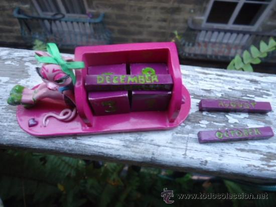 Juegos Antiguos: calendario infantil rosa, para poner todos dias del año y los meses, se cambia diariamente didactico - Foto 3 - 40436284