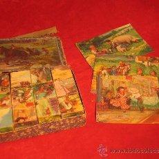 Juegos Antiguos: ROMPECABEZAS DE 12 CUBOS DE CARTON AÑOS 40 - PONGO 12 FOTOS. Lote 38802127