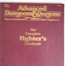 Juegos Antiguos: FIGHTER HANDBOOK PARA ADVANCED DUNGEONS & DRAGONS 2ND EDITION. Lote 39061463