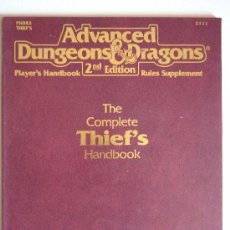 Juegos Antiguos: THIEF HANDBOOK PARA ADVANCED DUNGEONS & DRAGONS 2ND EDITION. Lote 39061563