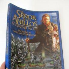 Juegos Antiguos: EL SEÑOR DE LOS ANILLOS EL RETORNO DEL REY - TERCER REGLAMENTO EDITADO 2003 - GAMES WORKSHOP. Lote 262921380