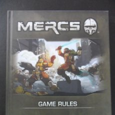 Juegos Antiguos: MERCS. GAME RULES. GAME DESING AND AUTHOR. BRIAN SHOTTON. ILLUSTRATION AND DESIGN: KEITH LOWE. TAPA. Lote 40394839