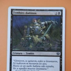 Alte Spiele - Carta Magic Zombies dañinos. Criatura-Zombie - Key Walker - 37232341