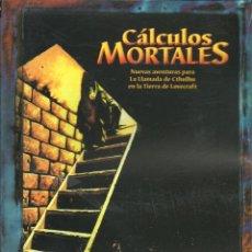 Juegos Antiguos: CÁLCULOS MORTALES LA LLAMADA DE CTHULHU LA FACTORÍA DE IDEAS JUEGO DE ROL. Lote 195487343