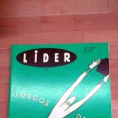 Juegos Antiguos: REVISTA LIDER WARGAMES CULTO JUEGOS DEPORTIVOS. Lote 41244908