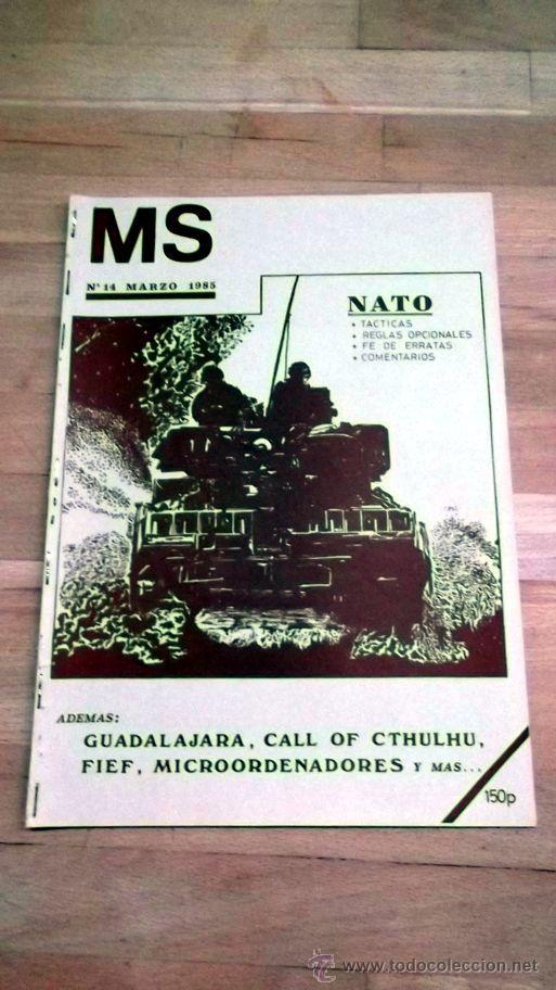 REVISTA MS Nª14 MARZO1985 WARGAMES CULTO NATO (Juguetes - Rol y Estrategia - Otros)