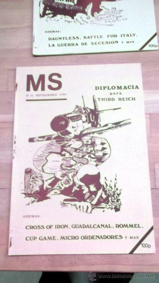 REVISTA MS Nª12 SEP 1984 WARGAMES DIPLOMACIA PARA III REICH (Juguetes - Rol y Estrategia - Otros)