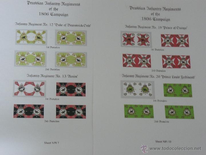 Juegos Antiguos: 15mm AB MINIATURES NAPOLEONICO 14 HOJAS DE BANDERAS PRUSIANAS DE LA CAMPAÑA DE 1806 (JENA) - Foto 2 - 41704897