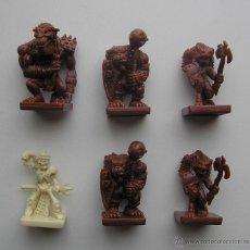 Juegos Antiguos: LOTE DE FIGURAS DEL JUEGO DE MESA DE ROL. Lote 43222906