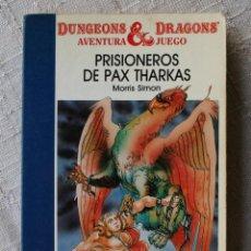 Juegos Antiguos: ADVANCED DUNGEONS AND DRAGONS Nº 1 PRISIONEROS DE PAX THARKAS LIBRO JUEGO TIMUN MAS LIBROJUEGO. Lote 84992658