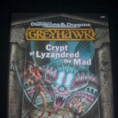 Jeux Anciens: GREYHAWK - ADVANCED DUNGEONS & DRAGONS - CRYPT OF LYZANDRED THE MAD - INGLÉS. Lote 45439077