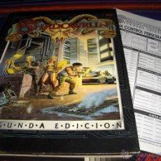Juegos Antiguos: SHADOWRUN 300 SEGUNDA EDICIÓN. CON HOJAS CONTROL PERSONAJE. DISEÑOS ORBITALES 1993. RARO.. Lote 46166546